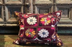 Antique Indian Embroidery Cushion, Kutch <b>SOLD<b>